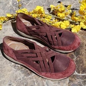 Dansko Slip On Athletic Shoes Burgundy 7 (37)